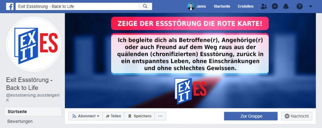 Martina Kühnel Exit-Essstoerung facebook fanpage